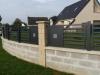 clôture aluminium design grille moderne