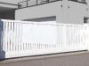 portail aluminium blanc