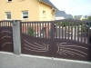 portail portillon aluminium design battant