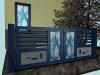 portail aluminium vitrage